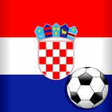 Croatia Flag with Soccer Ball Football WorldCup Stock Images