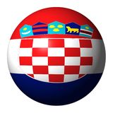 Croatia flag sphere Royalty Free Stock Photo
