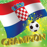 Croatia flag Stock Photography