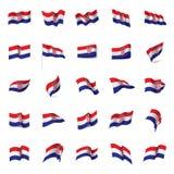 Croatia flag, vector illustration Royalty Free Stock Photos