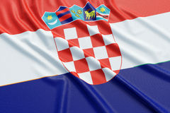 Croatia flag Stock Photos