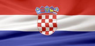 croatia flaga Zdjęcia Stock