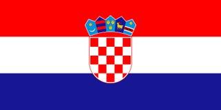 croatia flagga royaltyfri foto
