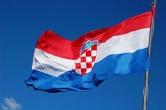 croatia flagga Arkivfoto