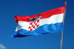 croatia flagga Fotografering för Bildbyråer