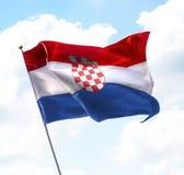 croatia flagga Royaltyfri Fotografi