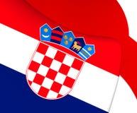 croatia flagga vektor illustrationer