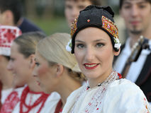 Croatia folk dance team Royalty Free Stock Photos