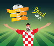 Croatia football fan Stock Images