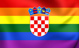 Croatia Gay Flag Royalty Free Stock Image