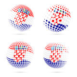 Croatia halftone flag set patriotic vector design. Stock Images