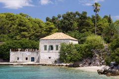 Croatia: House by the Adriatic Sea Royalty Free Stock Photography