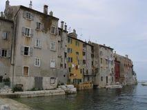 croatia houses rovinj Arkivbilder