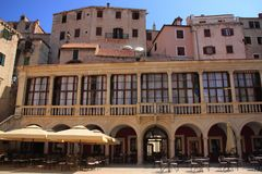 Free Croatia, Šibenik - A Renaissance Town Hall Of Šibenik Dating Back To The 16th Century With A Magnificent Loggia With Nine Arcade Royalty Free Stock Image - 126661416