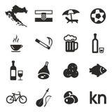 Croatia Icons Royalty Free Stock Image
