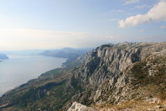 Croatia / Idyl / Mountains And Adriatic Coast Royalty Free Stock Photos