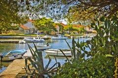 Croatia, Ilovik village and bay Royalty Free Stock Photos