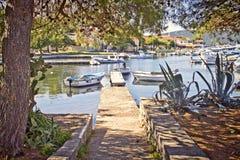 Croatia, Ilovik village and harbor Stock Images