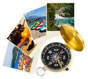 Croatia images and compass Royalty Free Stock Image