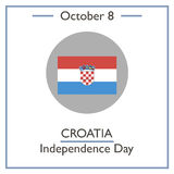 Croatia Independence Day, October 8 Royalty Free Stock Images