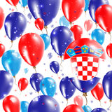 Croatia Independence Day Seamless Pattern. Stock Photo