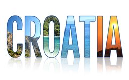 Croatia inscription made of photos Stock Photography