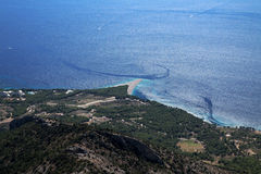 Croatia - isla Brac - rata de Zlatni - cabo de oro Fotografía de archivo libre de regalías