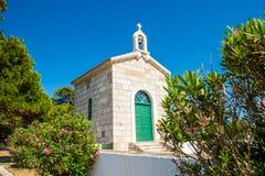Free Croatia, Island Of Dugi Otok, Old Stone Church Of Veli Rat Stock Photo - 185779070