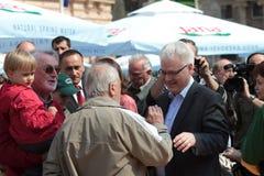 croatia ivo josipovic prezydent Obrazy Stock