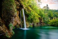 croatia jezior park narodowy plitvice sostavtsy siklawy Obrazy Royalty Free