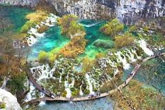 croatia jezior park narodowy plitvice sostavtsy siklawy Obraz Stock