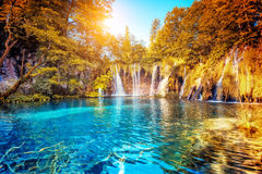 croatia jezior park narodowy plitvice sostavtsy siklawy Obrazy Stock