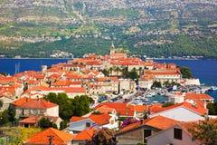 croatia korculatown Royaltyfri Bild