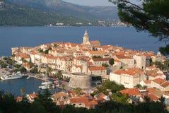 croatia korculatown Arkivbilder