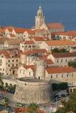 croatia korculatown Arkivbild