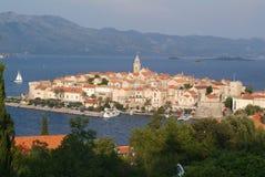 croatia korculatown Royaltyfri Fotografi