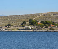 Croatia, Kornati archipelago, small seasonal houses Royalty Free Stock Photos