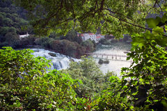 Croatia. Krka National Park. Waterfall Stock Photography