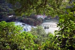 Croatia. Krka National Park. Waterfall. KRKA NATIONAL PARK, CROATIA - JUL 28 2014:  One of the most famous Croatian tourist attractions Stock Photography
