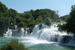 croatia krkanationalpark Arkivbild