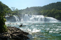 croatia krkanationalpark Arkivfoto