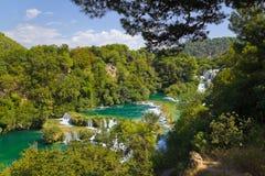 croatia krkavattenfall Royaltyfria Bilder
