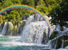 croatia krkavattenfall Arkivbild