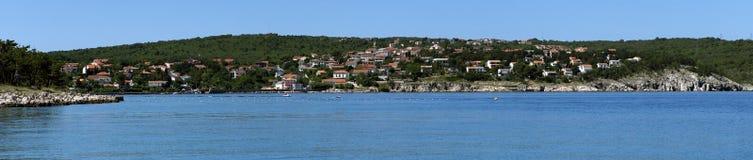 Croatia, Kvarner, Krk Island, Silo town Stock Photos