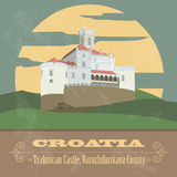 Croatia landmarks. Retro styled image Royalty Free Stock Images