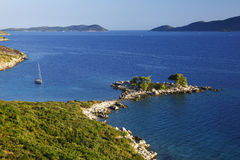 Croatia landscape. Croatia, Dalmatia - seascape near Dubrovnik Royalty Free Stock Photo