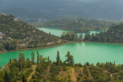 Croatia landscape green lakes Royalty Free Stock Images