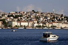 croatia losinjmali town Arkivbild