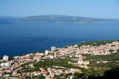 Croatia, Makarska, antena vie Fotografia de Stock