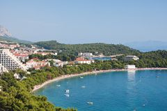 croatia makarska Riviera Obraz Stock
